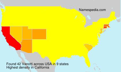 Surname Vanotti in USA