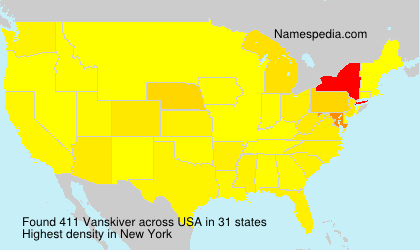 Surname Vanskiver in USA