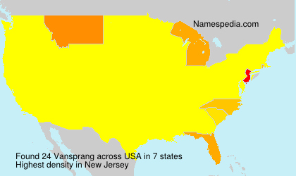 Surname Vansprang in USA