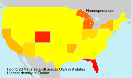 Surname Vansteelandt in USA
