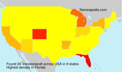 Surname Vansteelandt in USA