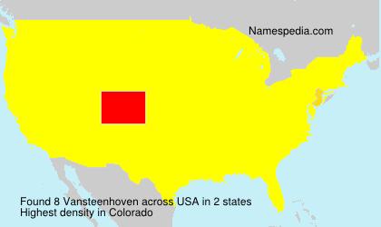 Familiennamen Vansteenhoven - USA