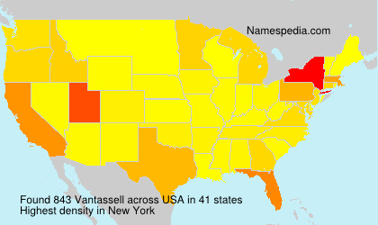 Surname Vantassell in USA