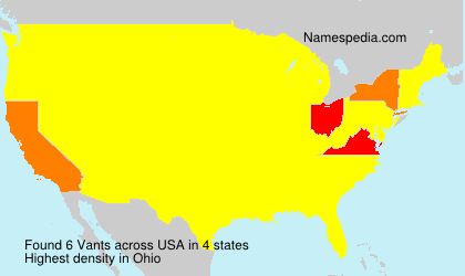 Surname Vants in USA