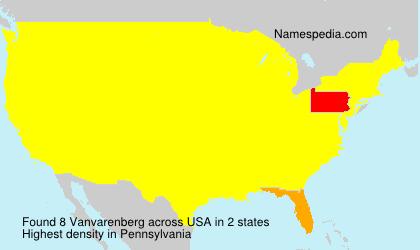 Surname Vanvarenberg in USA