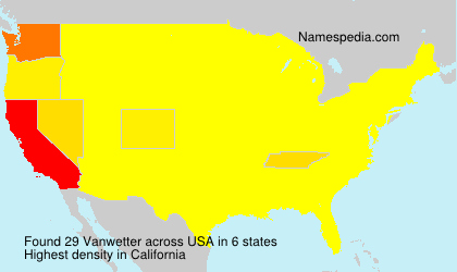 Surname Vanwetter in USA