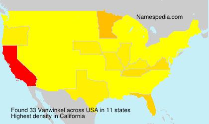 Surname Vanwinkel in USA