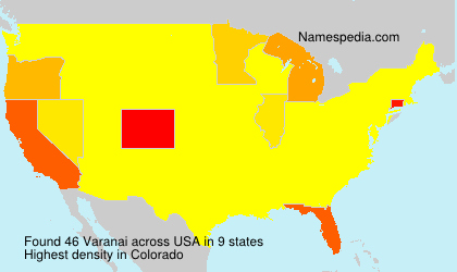 Surname Varanai in USA