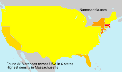 Surname Varandas in USA
