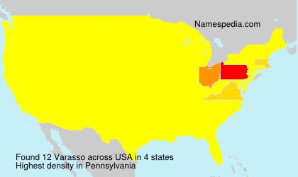 Surname Varasso in USA