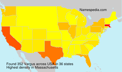 Surname Vargus in USA