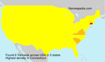 Surname Varhalak in USA