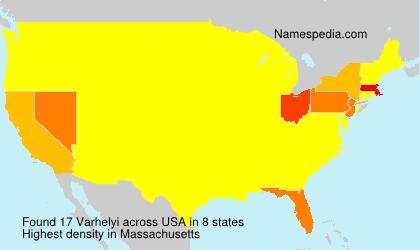 Surname Varhelyi in USA