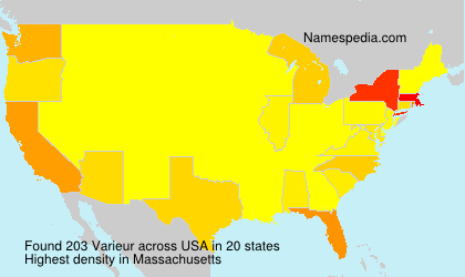 Surname Varieur in USA