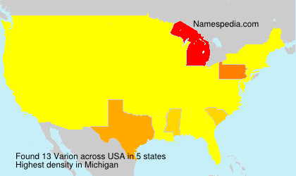 Surname Varion in USA