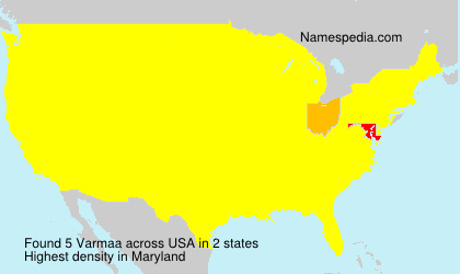 Familiennamen Varmaa - USA