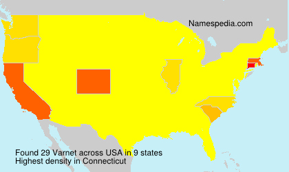 Surname Varnet in USA