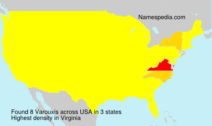 Surname Varouxis in USA
