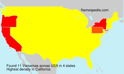 Surname Varsamas in USA