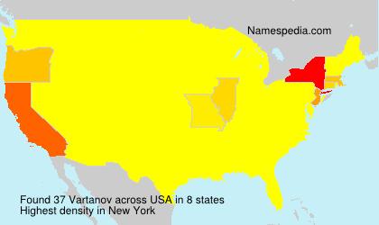 Surname Vartanov in USA
