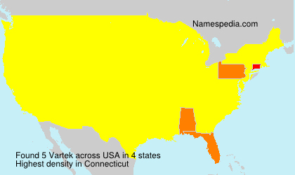 Surname Vartek in USA