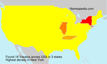 Surname Vasalos in USA