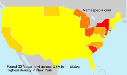 Surname Vasarhelyi in USA