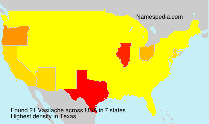 Surname Vasilache in USA