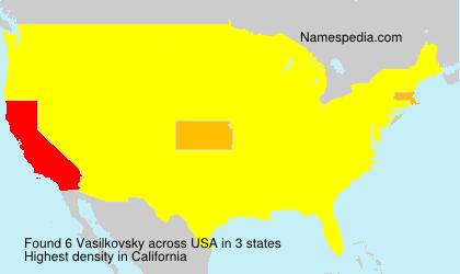 Familiennamen Vasilkovsky - USA