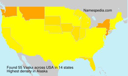 Surname Vaska in USA