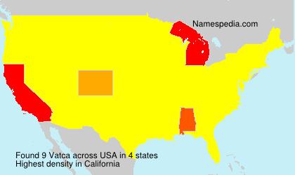 Surname Vatca in USA