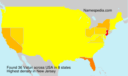 Surname Vaturi in USA