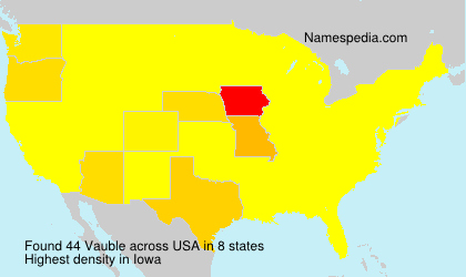 Surname Vauble in USA