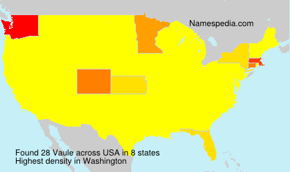 Surname Vaule in USA