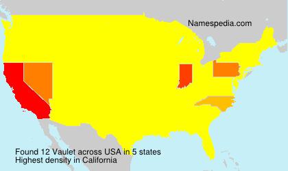 Familiennamen Vaulet - USA