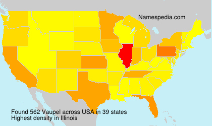 Surname Vaupel in USA