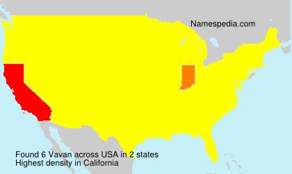 Surname Vavan in USA