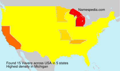 Surname Vavere in USA