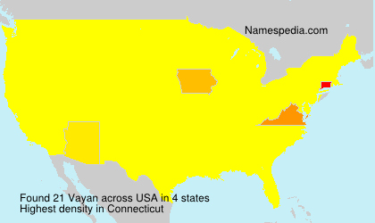 Surname Vayan in USA