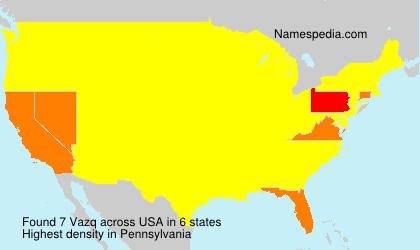 Surname Vazq in USA