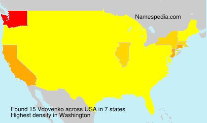 Surname Vdovenko in USA