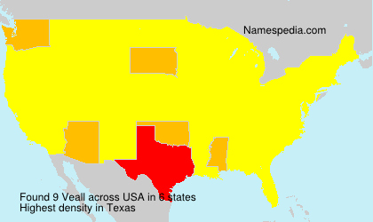 Surname Veall in USA