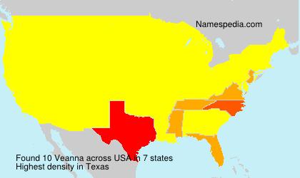 Surname Veanna in USA