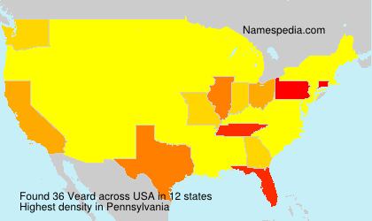 Surname Veard in USA
