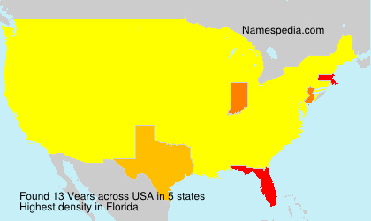 Surname Vears in USA