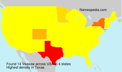 Surname Veasaw in USA
