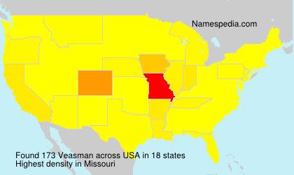 Surname Veasman in USA