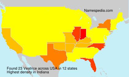 Surname Veatrice in USA