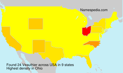 Surname Veauthier in USA
