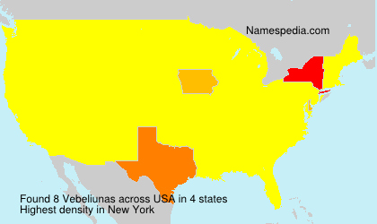 Surname Vebeliunas in USA